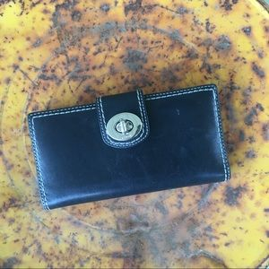 Black coach wallet and checkbook